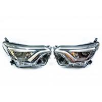 Передние максимальные светодиодные LED фары  Тойота RAV4 4 поколение