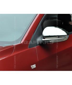 Комплект хромированных накладок на боковые зеркала Шевроле Круз