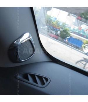 Накладки на динамики в передних стойках Шевроле Круз