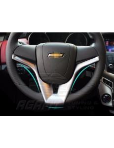 Серебристая накладка на руль Chevrolet Cruze Aveo Orlando